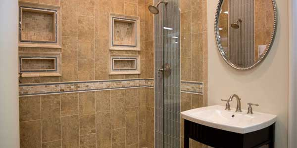interior of home shower