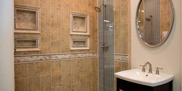 interior of a home shower